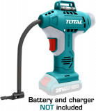 Compresor aer TOTAL, Li-Ion - 20V