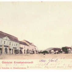3916 - DUMBRAVENI, Sibiu, Litho, Romania - old postcard - used - 1903