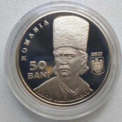 50 bani 2021 Tudor Vladimirescu, proof, 200 ani de la Revolutia din 1821 foto