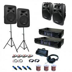 """Electronic-Star """"Sidney"""" sistem audio PA Set 2x 4x cutii de amplificare"""