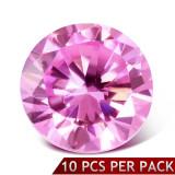 Ştras rotund, roz, faţetat, 3 mm