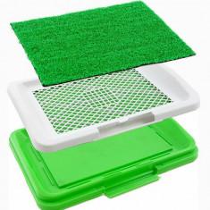 Covor toaleta pentru animale de companie, tip iarba artificiala, Gonga