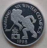 Moneda proba BNR 1998 hockey - Jocurile olimpice de la Nagano