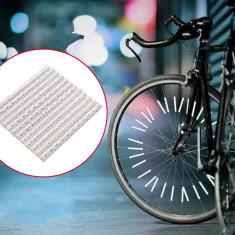 Ornamente reflectorizante pentru spite bicicleta, 12 buc, sporesc vizibilitatea si siguranta