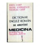 Dictionar englez - roman de abrevieri - Medicina - biochimie, imunologie