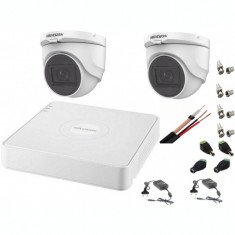 Sistem supraveghere interior audio-video Hikvision 2 camere Turbo HD 2MP DVR 4 canale SafetyGuard Surveillance