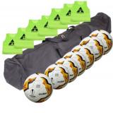 Set antrenament fotbal Molten: 7 x F5U1710 + 7 vesta + geanta transport