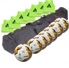Set antrenament fotbal Molten: 7 x F5U1710 + 7 vesta + geanta transport foto