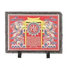 Placa (placheta) cu energia Yang , placa casei yin (in) impotriva energiei Yin