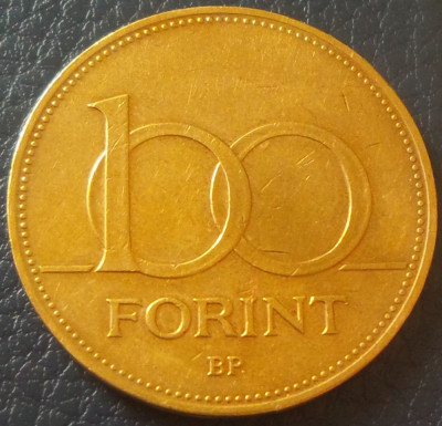 Moneda 100 FORINTI - UNGARIA, anul 1995 *cod 2417 B foto