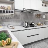 Folie de mobilier autoadezivă, alb, 500 x 90 cm, PVC