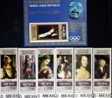 YEMEN A.R. MEXIC-1968- OLIMPHILEX-PICTURI-1M/Sh.+1S/Sh.NEOB. YAR 043D, Arta