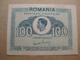 B508- BANCNOTA 100 lei Mihai 1945 stare buna. Aproape UNC.