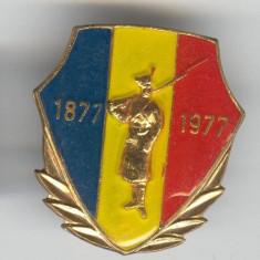 Insigna 1877 - 1977 - DOROBANTUL