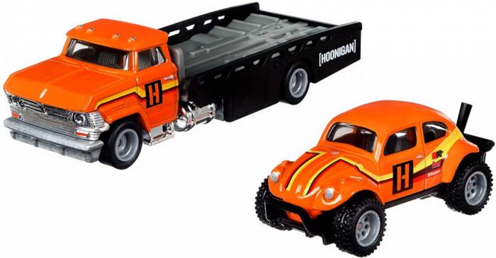 Hot Wheels Transportator Horizont Hauler Cu Masinuta Volkswagen Baja Bug Scara...