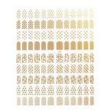 Folie Stickere unghii, model J001 - Gold