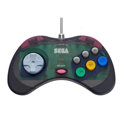 Controller Retro Bit Sega Saturn Usb Pad Grey foto