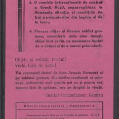 Romania WW2 - Bilet libera trecere pentru Ofiteri si Soldati Romani