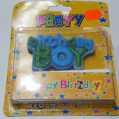 """Lumanare pentru petrecere, baiat, """"Birthday Boy"""""""