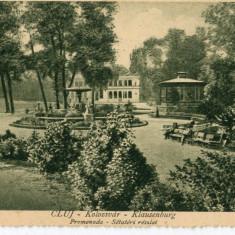 Carte Postala Cluj Kolozsvar - Klausenburg Promenada Setateri reszlet, Necirculata, Printata