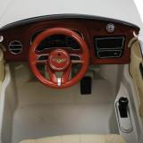 Masinuta electrica cu roti din cauciuc Bentley Bentayga White