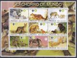 DB1 Fauna Angola Vulpi Diavol Tazmanian Lupi  MS  MNH, Nestampilat
