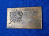 Placheta OSP - Federatia romana de automobilism si motociclism - Rara - medalie
