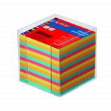 Cumpara ieftin Bloc notite color Herlitz, 9x9x9 cm, 650 file cu suport