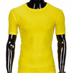 Tricou barbati, bumbac - S970-galben