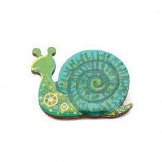 Brosa LEMN Green Snail