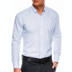 Camasa eleganta barbati K466 - alb-albastru