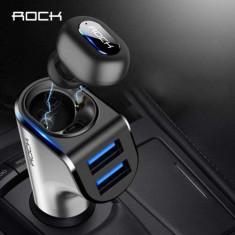 Casca Wireless Bluetooth Cu Microfon Stereo 2 in 1 Incarcator Auto Neagra