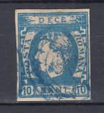 ROMANIA 1869 LP 26 CAROL I CU FAVORITI 10 BANI STAMPILAT POINCON L.PASCANU