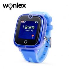 Ceas Smartwatch Pentru Copii Wonlex KT07 cu Functie Telefon, Localizare GPS, Camera, Apel Monitorizare, Pedometru, SOS - Albastru, Cartela SIM Cadou