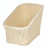 Cos dreptunghiular pentru baghete paine rezistent la apa, 25 x 17 x 13 X 22 cm culoare natural, 014075