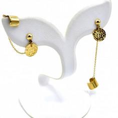 Cercei Oro Fantasia, aur galben 14K, colectia noua, cod produs 179764