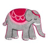 Covoras decorativ MANDALA ELEPHANT, 100% bumbac