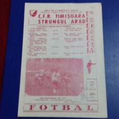 program      CFR  Timisoara   -  Strungul  Arad
