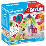 Set de Constructie Fetita la Moda cu Catel, Playmobil