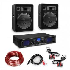 "Electronic-Star Amplificator HiFi și set de boxe, amplificator 2 x 350 W , 2 x boxe 15 "", 400 W RMS"