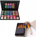 Trusa Make-up 78 culori + 12 pensule profesionale