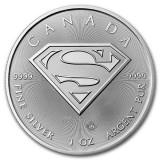 Moneda argint 9999 lingou , SUPERMAN™ Shield Canada 1oz = 31 grame