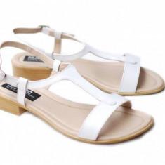 Sandale dama din piele naturala lacuita - S16ALBLAC