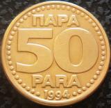 Moneda 50 PARA - YUGOSLAVIA, anul 1994  *cod 1115