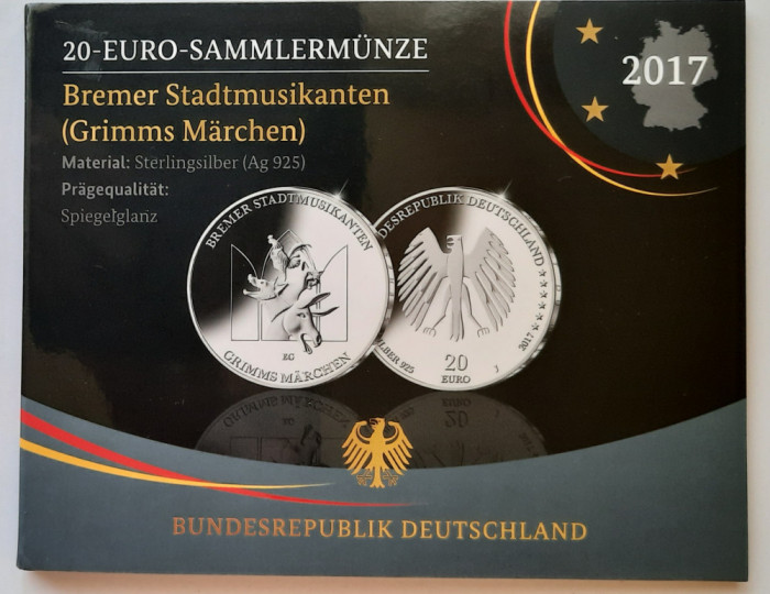 Moneda comemorativa de argint - 20 Euro, Germania, 2017 - PROOF