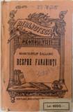 """DESPRE FANARIOTI de MARCU - FILIP ZALLONY , COLECTIA """" BIBLIOTECA PENTRU TOTI """" NR. 152 - 153, EDITIE INTERBELICA"""