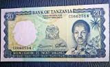 Tanzania 20 Shillings 1966 bancnota UNC