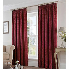 Set 2 draperii Eastbourne Burgundy 117x183 cm