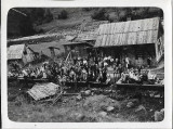 B715 Tren CFR vagon defileu Ciucea angajati SAR de Telefoane anii 1930