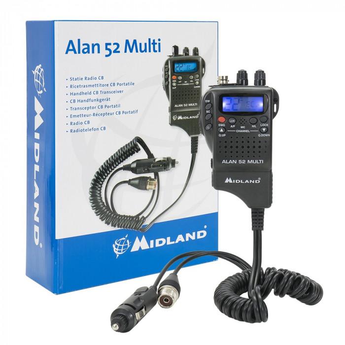 Resigilat : Statie radio CB portabila Midland Alan 52 Multi Romania Cod C480.18